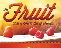 The Fruit that is Never out of Season Church Flyer