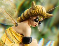 A bee girl