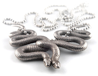 Embraced Snakes Pendant