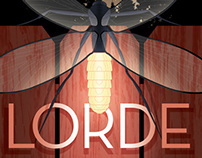 Poster: Lorde at the Fillmore SF