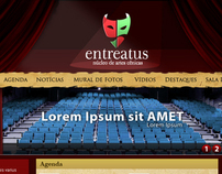 Entreatus Compania de Teatro website design