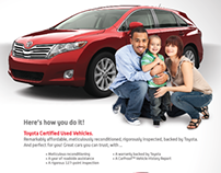 Toyota Certified Used Vehicle Print Ad