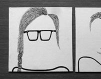 Minimalistic portrait