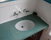 Bathroom Remodle with Concrete Countertop