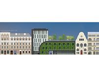 Hostel ekologiczny, Wrocław - projekt dyplomowy INŻ
