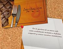 Diseño Invitación. Braseros Steak House