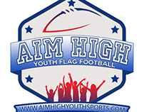 Aim High Youth Sports logo package.