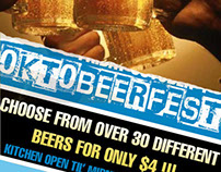 Oktobeerfest design for barcode.