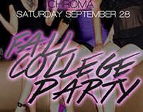 Fall college party design for ultrabar.