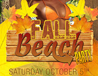 fall beach party