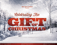 Celebrating the Gift of Christmas Church Flyer Template