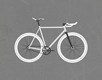 Fixie Bicycle Print