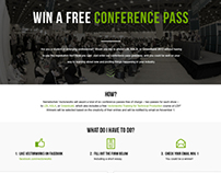 Conference Pass Promo Landing Page | 2013