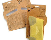 Teko Socks - branding, packaging
