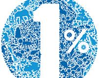 1& for the Planet - logo, branding