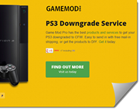 PS3 Mod Pro Landing Page