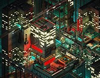 SciFi City - Voxelart