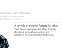 BMW: E60 / 5-Series Microsite