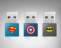 USB Flash Memory Superheroes