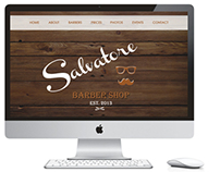 Salvatore Barber Shop Identity
