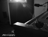 photoshoot with a band, shot in black and white!