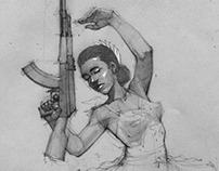 A Ballerina With An AKM