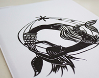 The little Mermaid 2 Paper Cut out