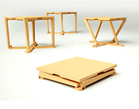 Mobil Wooden Stool