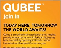 Press Ads for Qubee Internet