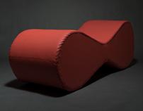 Double Chaise Longue. Double Chaise Longue · By: Sand U0026 Birch Snidarfino ·  Furniture Design · 5 145 · Glossy Lipstick Sofa