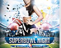 Superbowl Night Flyer Template