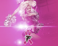 Atlanta Falcons Cheerleader Site Background Tile