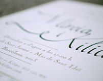 Mireia & Kilian wedding invitation