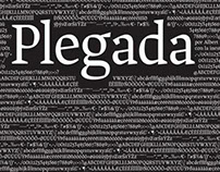 Plegada typeface