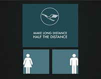 Lufthansa. Make Long Distance Half The Distance