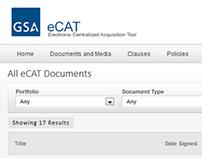 GSA eCAT Portal