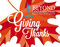 """Giving Thanks"" Donation Leaves"