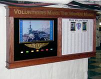 USS Midway Museum - Volunteer Appreciation Display