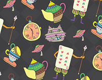 wrapping paper for Alice wonderland