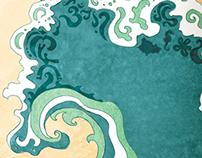 Art Direction & Illustration: Wanderlust Festival O'ahu