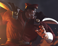 3D M.Bison Fan Art
