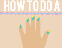 How to do a Gold Leaf Manicure