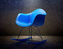 Eames rocking chair cgi