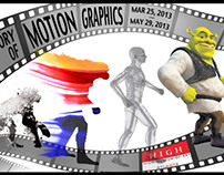 History of Motion Graphics poster