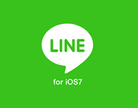Line App redesign for iOS7