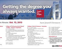 SJU Open House Direct Mail