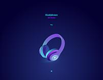 Headphones - 3D vector design