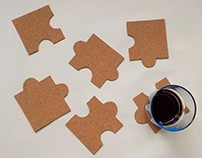 Puzzle coaster and placemat