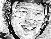 Illustration of Hockey Player Claude Giroux