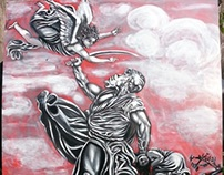 The sacrifice of Isaac by pallominy The grisaille